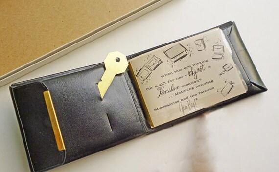 1950s DEADSTOCK Atomic Leather Wallet by Kressline