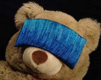 Hand Dyed Cobalt Blue Silk Eye Mask