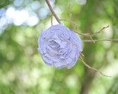 Periwinkle Stripe Heart Bloom Pin Summer 11