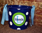 NAVY BLUE 10 Quart Bucket - Easter Basket Pail - Halloween Candy Bucket
