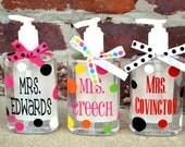 PERSONALIZED Desk Hand Sanitizer Pump - Perfect TEACHER GIFT - End of the Year - Student Teacher Graduation - Teacher Appreciation