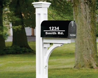 TWO SIDES Classic Mailbox Decal