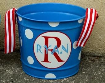 SKY BLUE 10 Quart Bucket - Easter Basket Pail - Halloween Candy Bucket