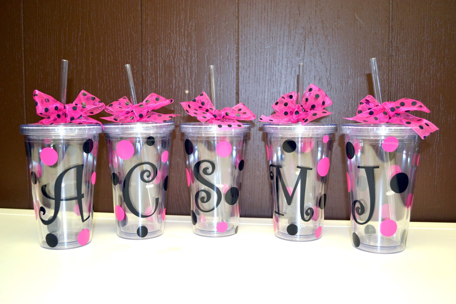 Wedding Bridesmaids Gifts: 5 FIVE Bridesmaid Gifts Personalized Cups By
