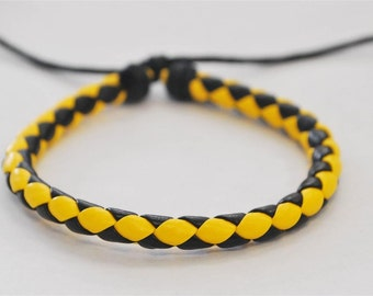 On Sale - Bee braided leather cord Bracelet