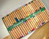 Vintage set of 48 Oil Pastels, GUITAR OIL PASTEL, Artist Colours