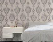 STENCIL - IKAT Pattern no.2 - Allover Wall Stencil - Easy, Reusable Wall Decor