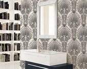 STENCIL for Walls - Art DECO Flora Pattern - Large, Reusable stencil - DIY Home Decor