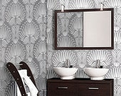 STENCIL for Walls - Art DECO Flora Pattern - Reusable DIY Home Decor