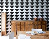 Wall Stencil - Mod Triangle PATTERN - Allover Pattern STENCIL - DIY Home/Wall Decor
