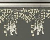 STENCIL for Walls - BORDER Black Locust Flowers - Reusable Wall Stencil for DIY home decor