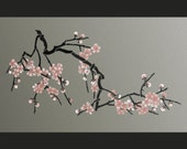STENCIL - Japanese Cherry Blossoms - Large Branch Stencil for Walls - DIY Home Decor