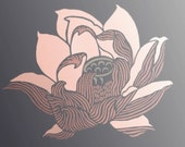 "Stencil for Walls - LOTUS FLOWER - 21"" flower stencil - Reusable DIY Home Decor"