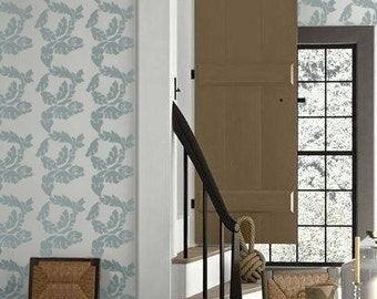 Stencil for Walls - Damask ACANTHUS stripe - Wall STENCIL - Reusable - William Morris Inspired DIY Home Decor