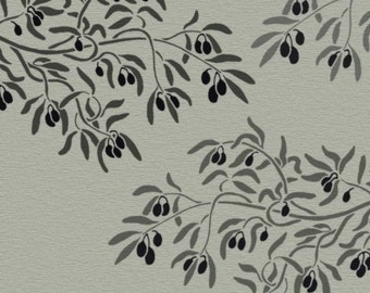 branch stencil for walls olive branch large wall stencil reusable diy home