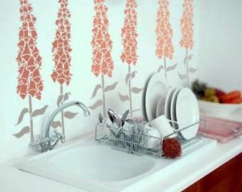 STENCIL for Walls - FOXGLOVE Flower- Stencil Digitalis for walls - Reusable - DIY Home Decor