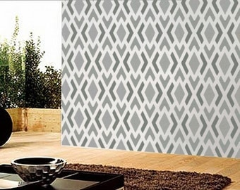 Stencil - GEOMETRIC Pattern no. 1 - Modern Wall STENCIL - Easy DIY Home Decor - Reusable