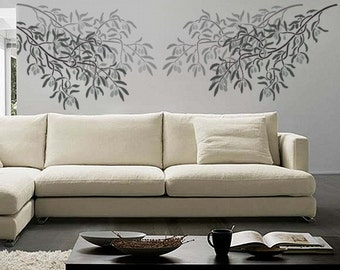 Branch Stencil for Walls - Olive Branch - Durable Wall STENCIL - Reusable DIY Wall ART/Home Decor