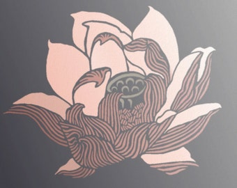 "Flower Stencil for Walls - LOTUS - 21"" flower stencil - Reusable DIY Home Decor"