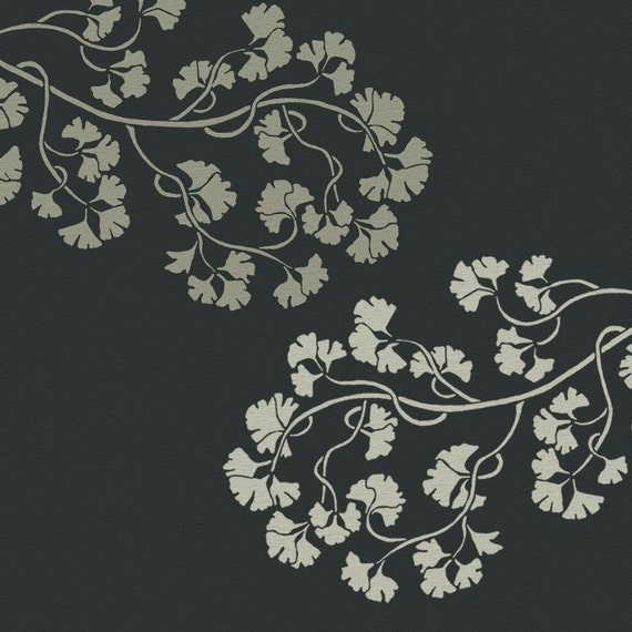STENCIL for Walls - GINKGO Branch- Large Wall Stencil - Reusable - DIY Home Decor