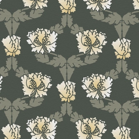 William Morris Wall Stencil Reusable Damask Honeysuckle