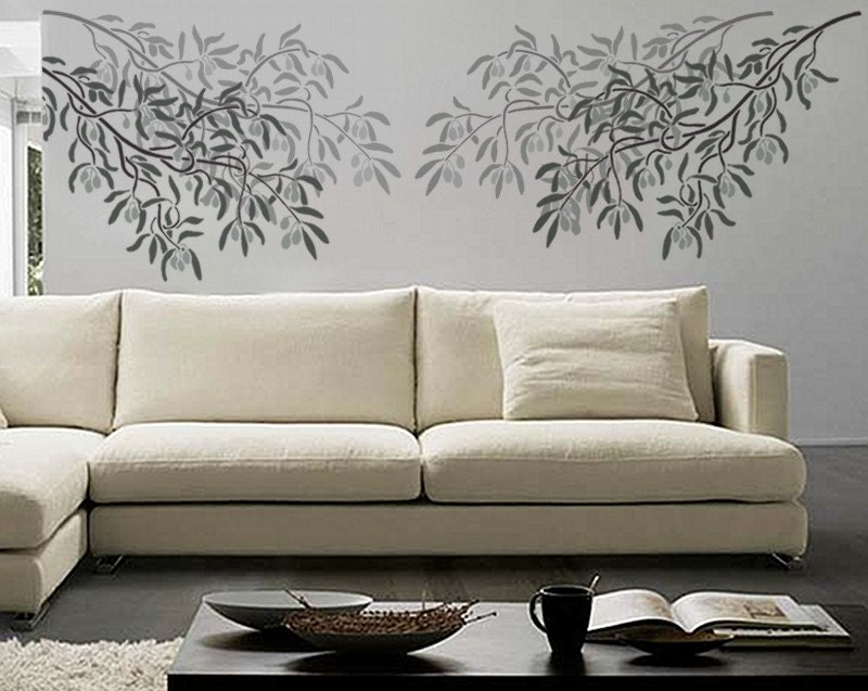 Wall Stencil Art branch stencil for walls magnolia tree branch with birds