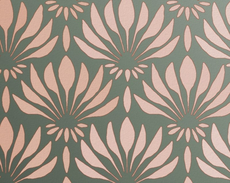 Pattern Stencil For Walls Art Deco Pattern Fan
