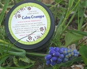 Calm Cramps, Fair-Trade Kpangnan Butter Balm with Muscle Soothing Essential Oils, Great for PMS Aches & Charley Horses, Travel Tin - 0.50oz.