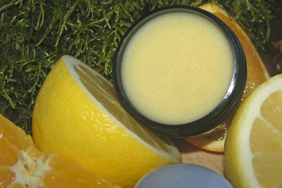 Lemon Balm, a Citrus Herbal Salve, Essential Oils of Melissa & Helichrysum, Infused Vanilla Bean, Red Clover, Smooth Cuticles, Thighs SALE