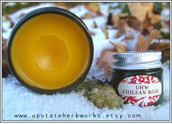 Chilean Rose, with Infused Rose Petal and Calendula Oils, a Velvety Rich Women's Healing Balm for Balance & Self Care, Travel Size 0.50oz.