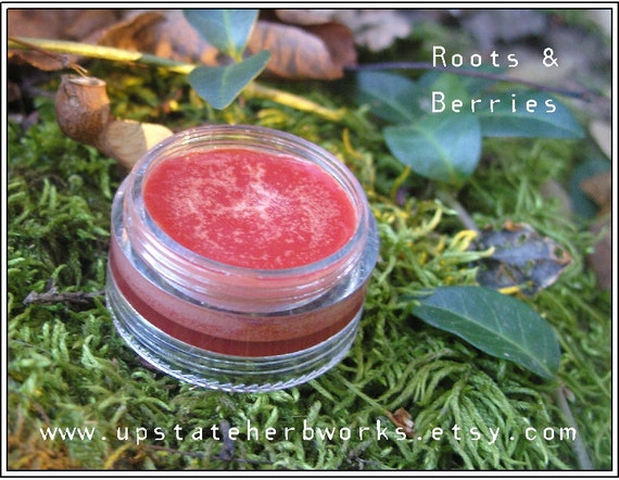 Roots & Berries Lip and Cheek Tint, with Kokum Butter, CO2 Extracts of Pomegranate, Rosehip, plus Avocado and Meadowfoam Seed, Vegan - SALE