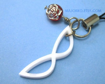 Sailor Moon Phone Charm - Tuxedo Kamen Mask Rose