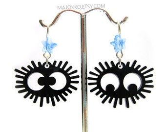 "Susuwatari ""Soot Sprites"" Totoro Spirited Away Earrings"