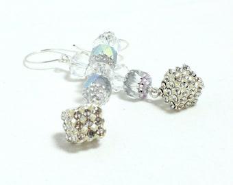 Long Crystal Earrings - Bridal - Wedding - Prom - Glam