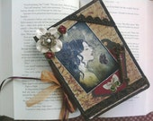 "Altered Journal Collage Vampires Gothic Antique ""Dark Whispers"""