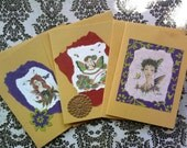 Handmade Note Cards Set of 3
