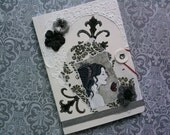 "Altered Notebook Journal Collage Vampires Gothic ""Dark Whispers"""