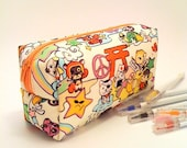 Cute Japanese Tomodachi Boxy Box Pencil Case