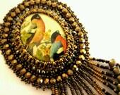SALE Wild Birds Cameo Necklace - jenum24
