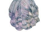 braided hair - A5 print