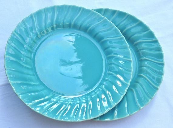 Franciscan Ware Coronado Plates - Gladding McBean Glossy Aqua Blue - Salad Plate Size