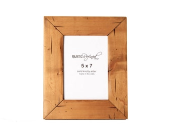 5x7 Cabin picture frame - Natural Alder