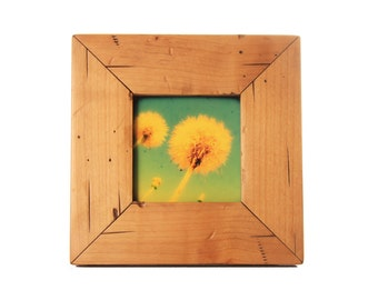 4x4 Cabin picture frame - Natural Alder