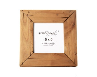 5x5 Cabin picture frame - Natural Alder