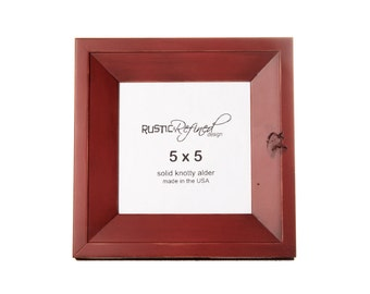 5x5 Haven picture frame - Barn Red, Free Shipping