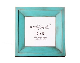 5x5 Haven picture frame - Turquoise