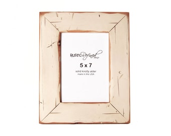5x7 Cabin picture frame - Off White, Free Shipping