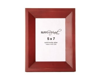 5x7 Haven picture frame - Barn Red
