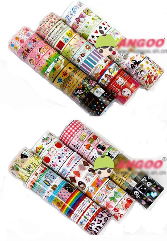Free Shipping Wholesale 60 rolls of deco tapes kawaii tapes 60 patterns 5 M per roll scrapbooking sticker cardmaking sticker L099