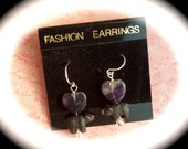 Amethyst Earings- I Love Bears